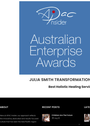 JULIA SMITH TRANSFORMATIONAL ENERGETIC HEALING - Australia 2020 *